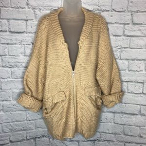 Honey Punch Oversize Tan Cardigan
